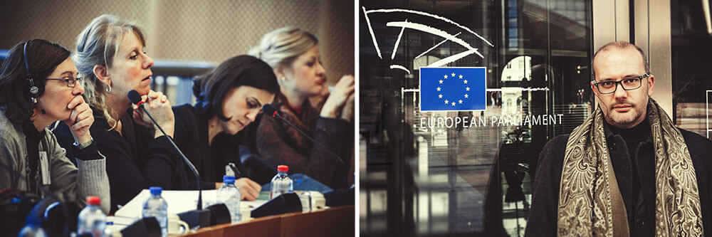 Brussels, together at the European Parliament.