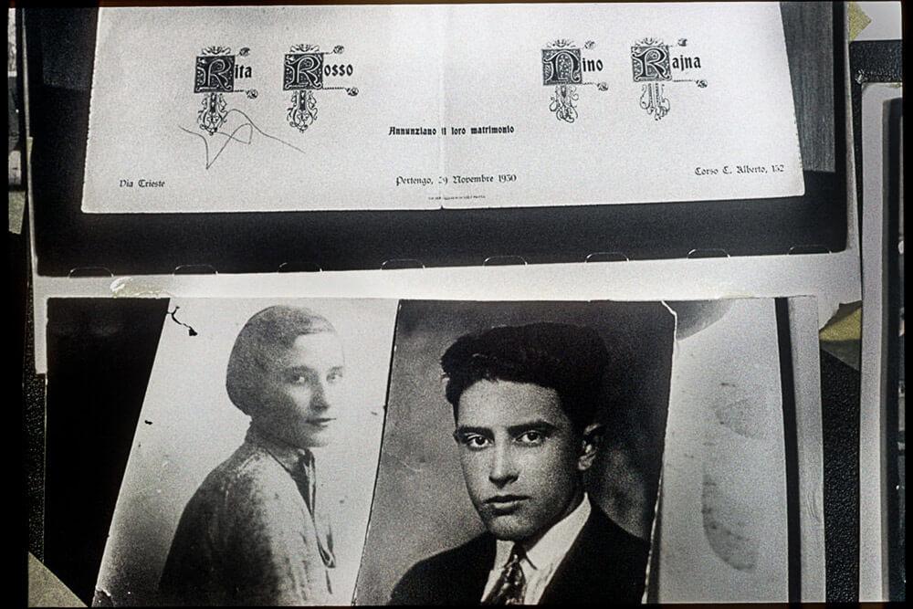 """November 29th 1930: """"Rita Rosso e Nino Rajna annunziano il loro matrimonio"""" Luca's paternal grandparents wedding card."""
