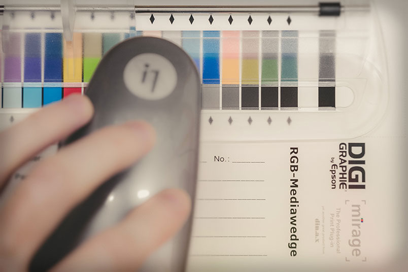 Colorimetric test with the spectrophotometer