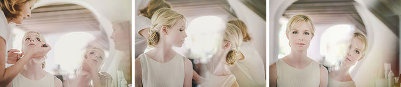 Modern vintage wedding in Italy: the bride getting ready