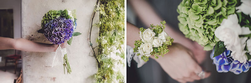 A modern vintage wedding: the bouquets