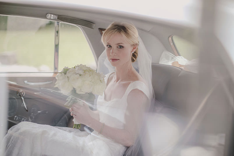 A modern vintage wedding: the car