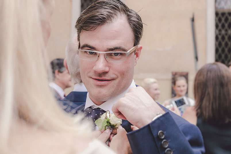 A modern vintage wedding: the groom