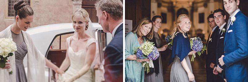 A modern vintage wedding: the arrival fo the bride
