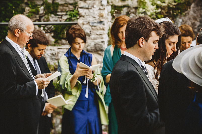 Lake Como: blessing ceremony by the lake.