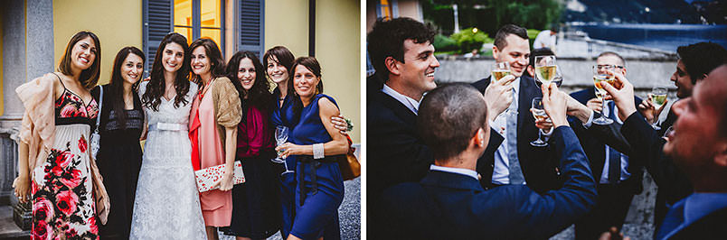 Lake Como, Bellagio (Poncetta), wedding at Villa Corte del Lago: wedding scenes with guests.