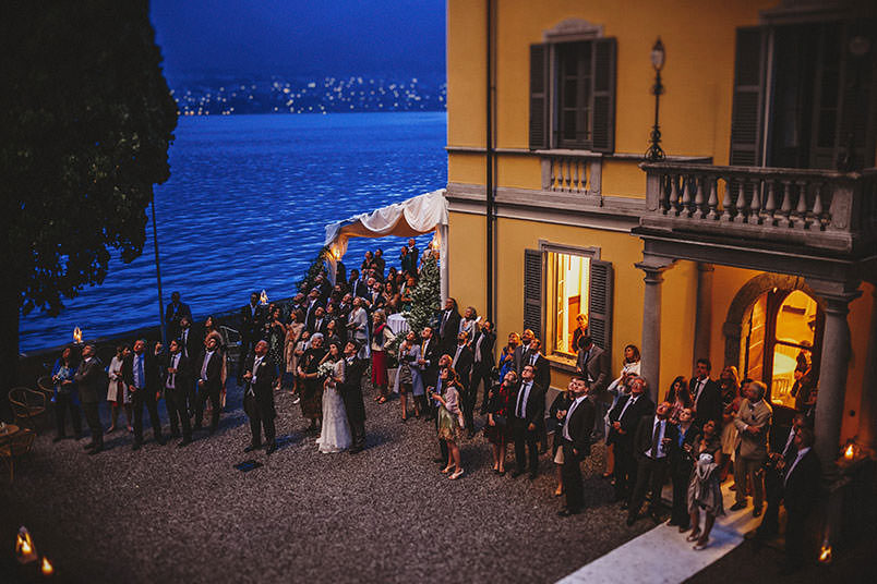Lake Como, Bellagio (Poncetta), wedding at Villa Corte del Lago: wedding with fireworks