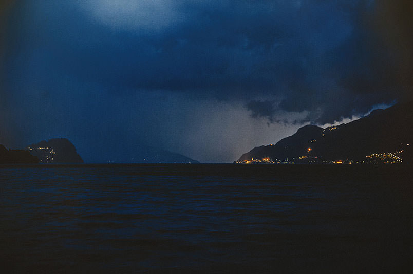 Lake Como by night. Landscape.