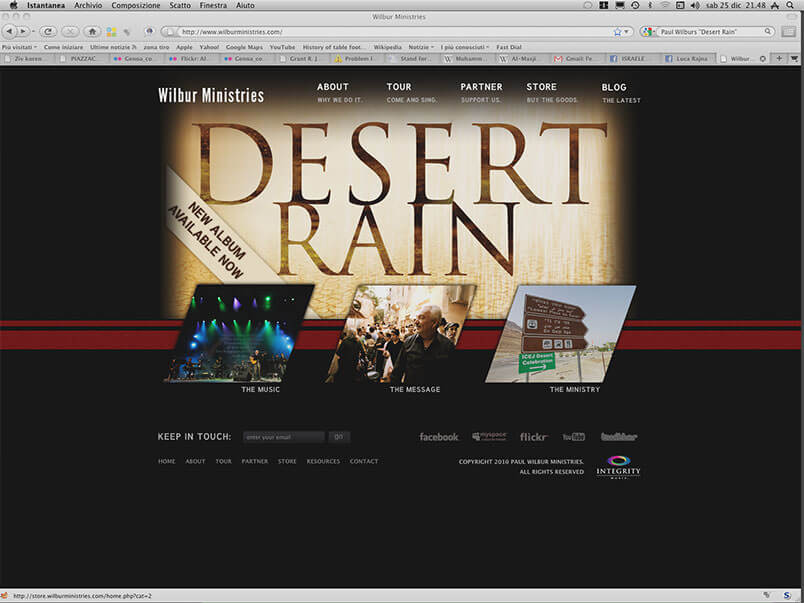 Paul Wilbur: homepage of the website for Desert Rain