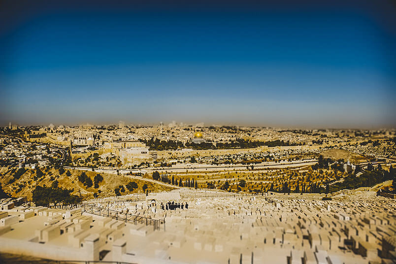 "Paul Wilbur: photos for the album ""Desert Rain"". View of jerusalem form the Mount of Olives."