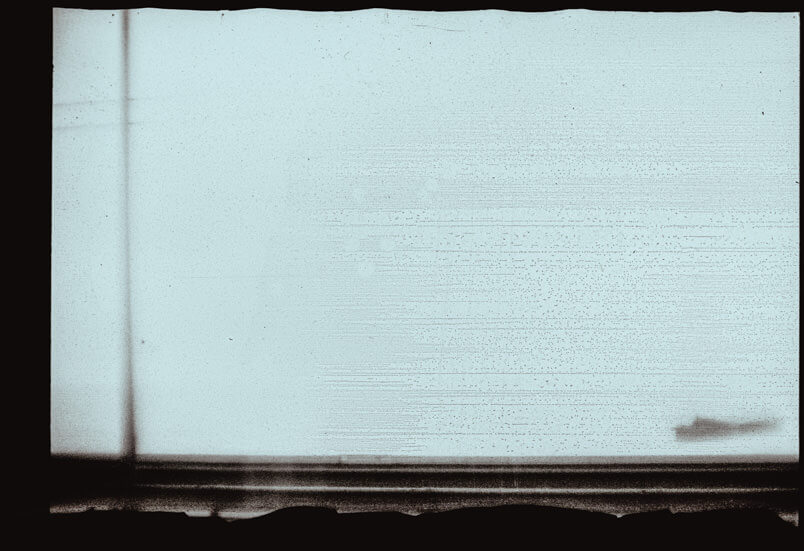 Analogue fine art photography in Venice. Polaroid Polapan film. Minimal frame.