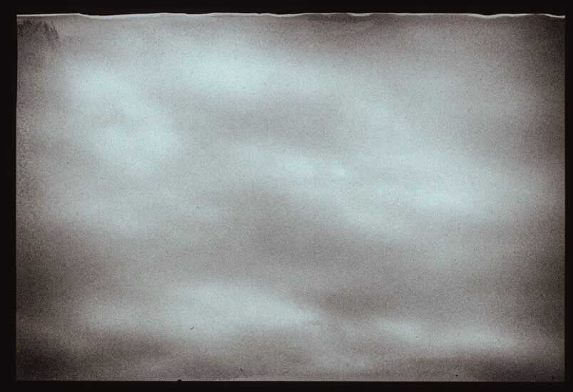 Analogue fine art photography in Venice. Polaroid Polapan film. Venetian sky.