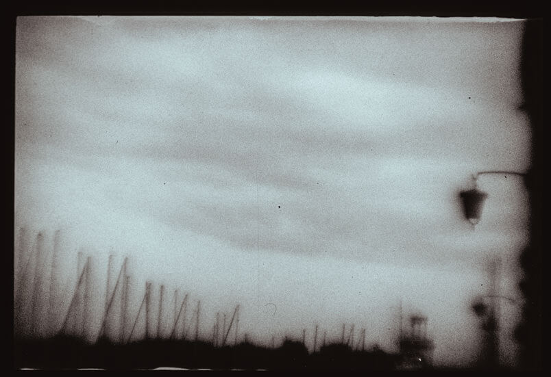 Analogue fine art photography in Venice take with the Polaroid Polapan film.
