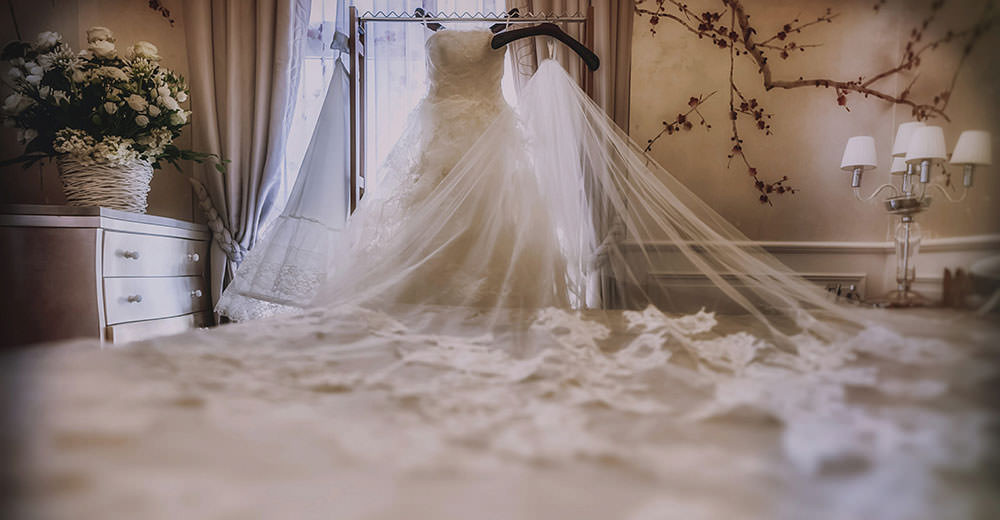 A luxury wedding dress