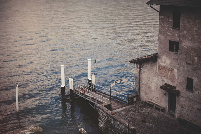 The pier of Brienno, Lake Como