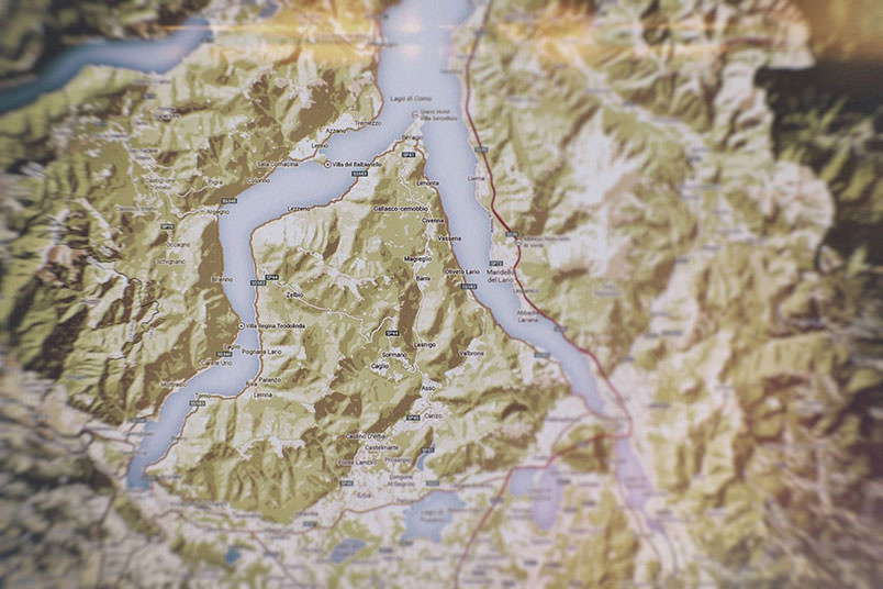 Map of the Lake Como.