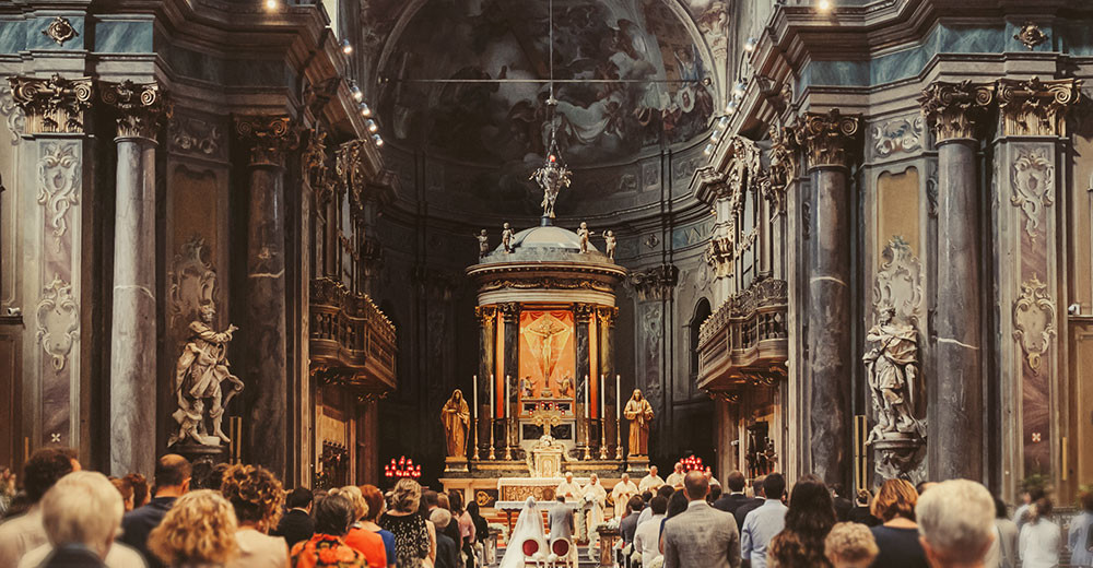 Wedding in an italian catholic church