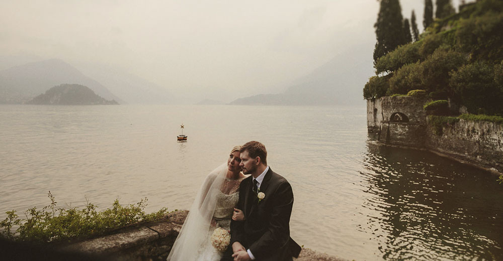 Newlyweds on Lake Como
