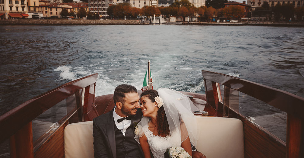 Como: newlyweds on the boat.