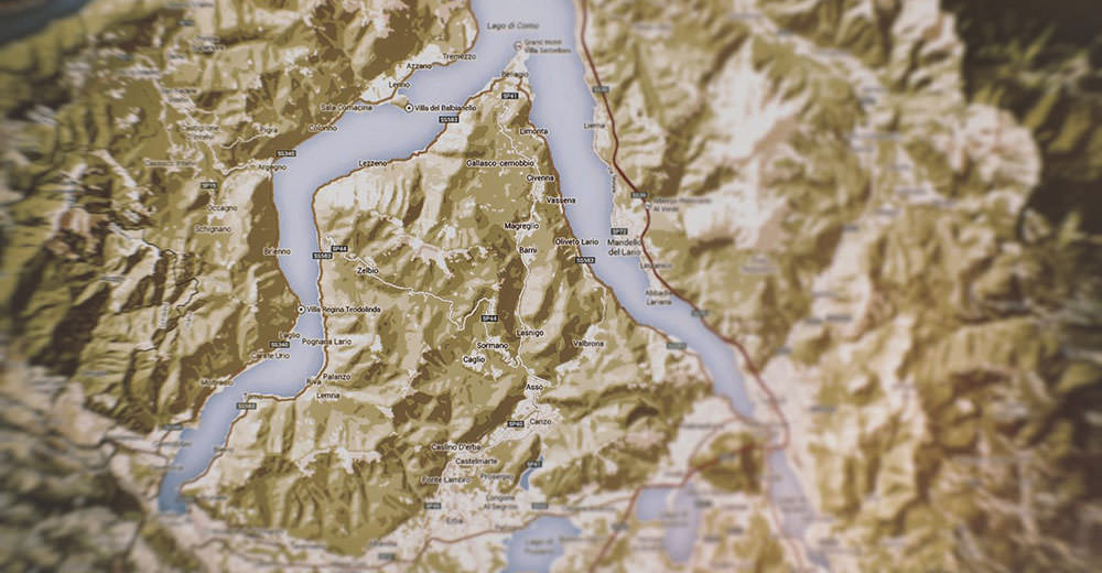 Map of Lake Como