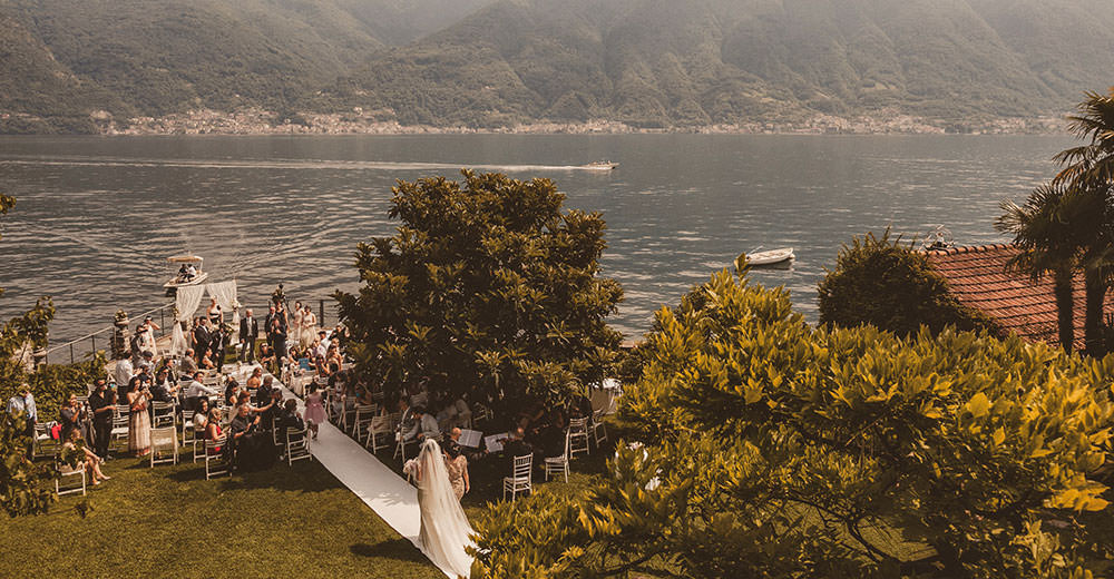 Wedding in the gardens of Villa Monastero, Lake Como