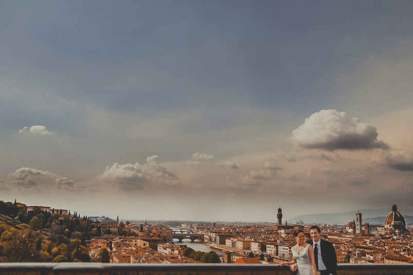 Landscape of Florence. Wedding photography.