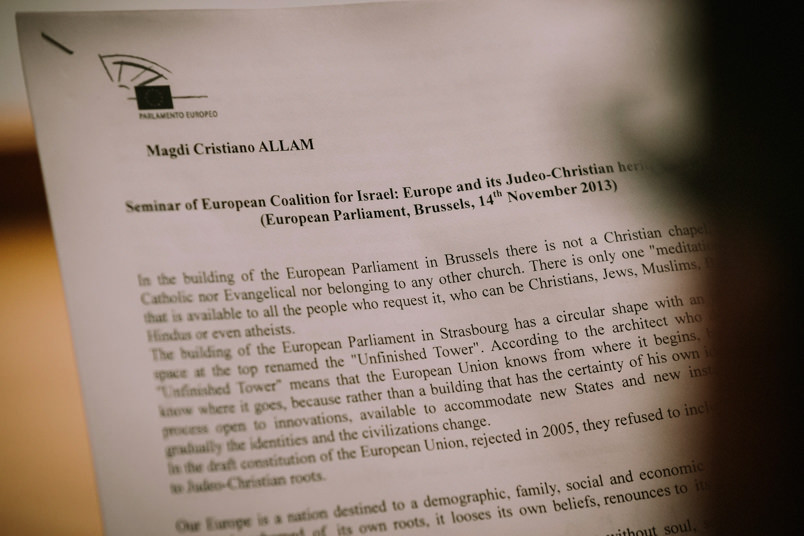 "Magdi Cristiano Allam: seminar ""Europe and its Judeo-Christian heritage and future"""
