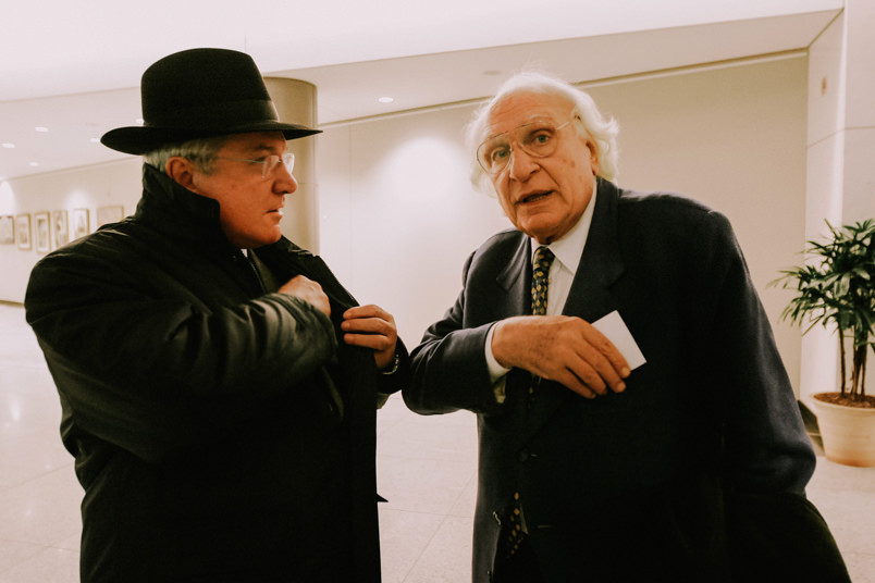 Carlo Pannella, italian politician and activist, with Ivan Basana, President of EDIPI – Italian Evangelical for Israel