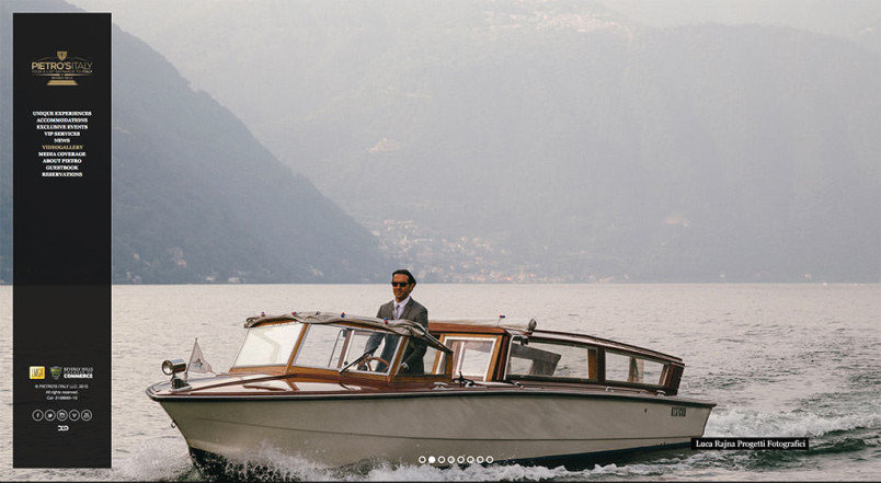 Pietro Narra, mr. Italy on Lake Como