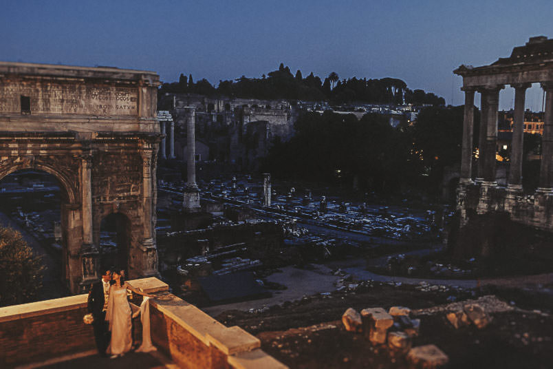 Wedding in rome: the Foro Romano