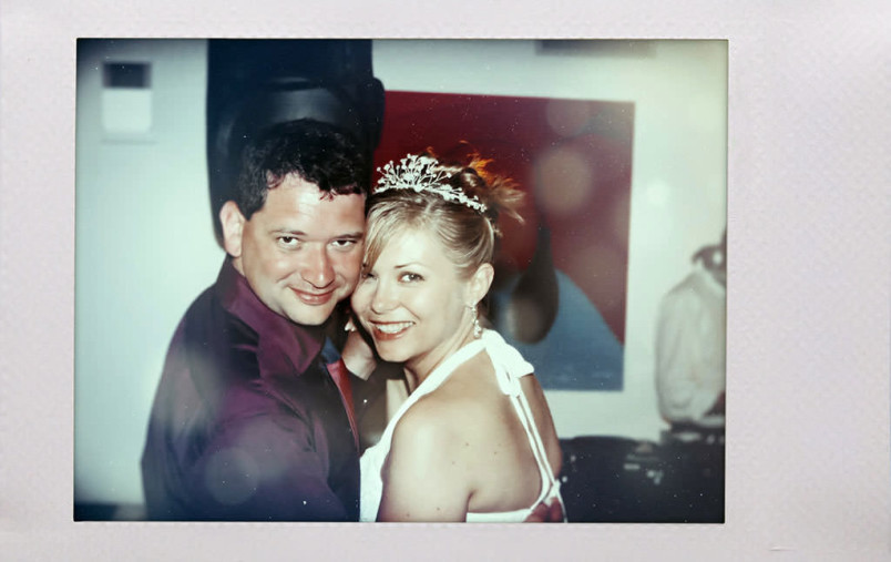 Polaroid. Wedding at the Sporting Club Bellagio.