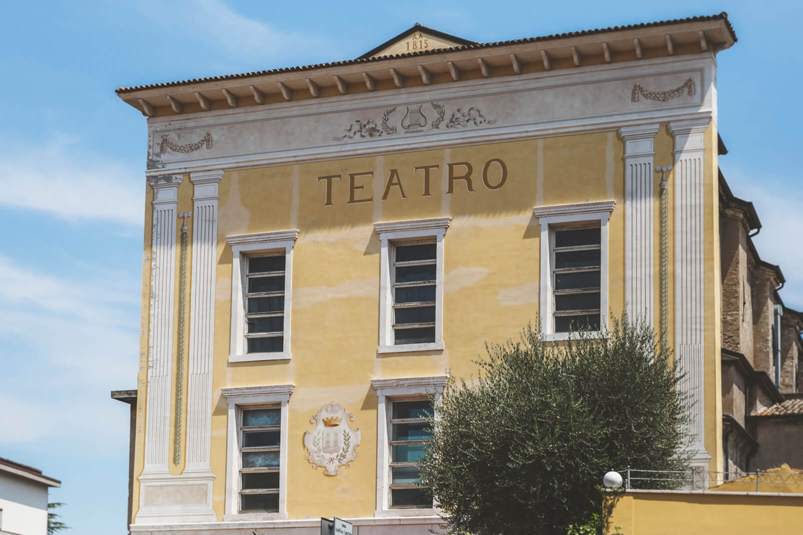 Desenzano, Teatro Alberti: the facade. This was the wedding venue.