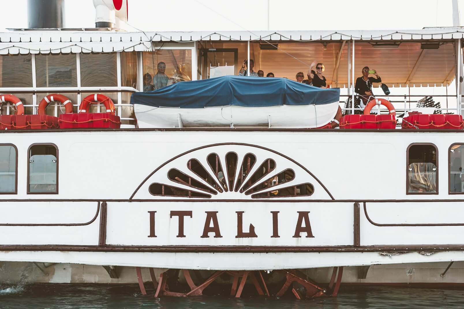 Italia, the vintage boat on Lake Garda.