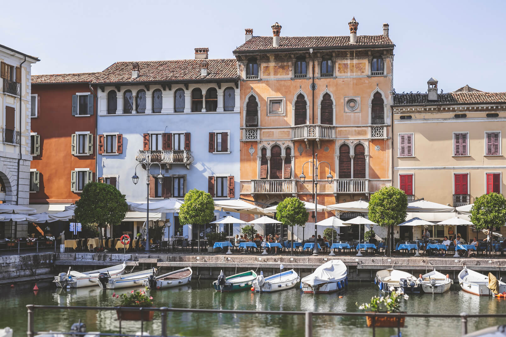Desenzano del Garda: the old harbour inside the old town.