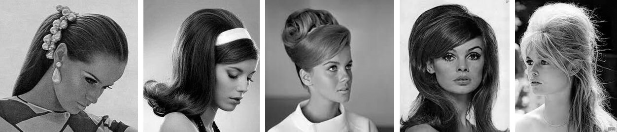 1960s Hairstyle. Five samples.